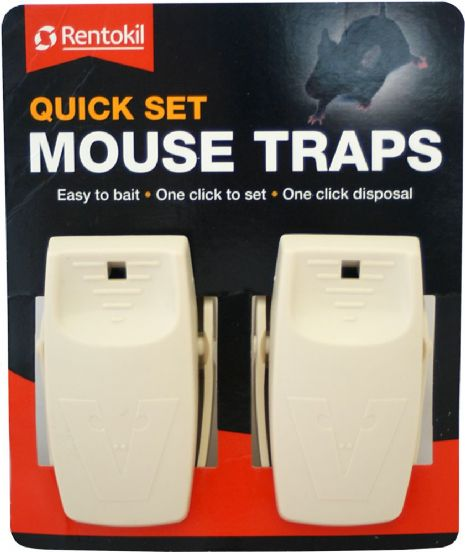 Rentokil Quick Set Mouse Traps Twin Packed